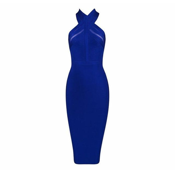 Celebrity Party Blue Sexy Night Out Dress - Bec's luxury store