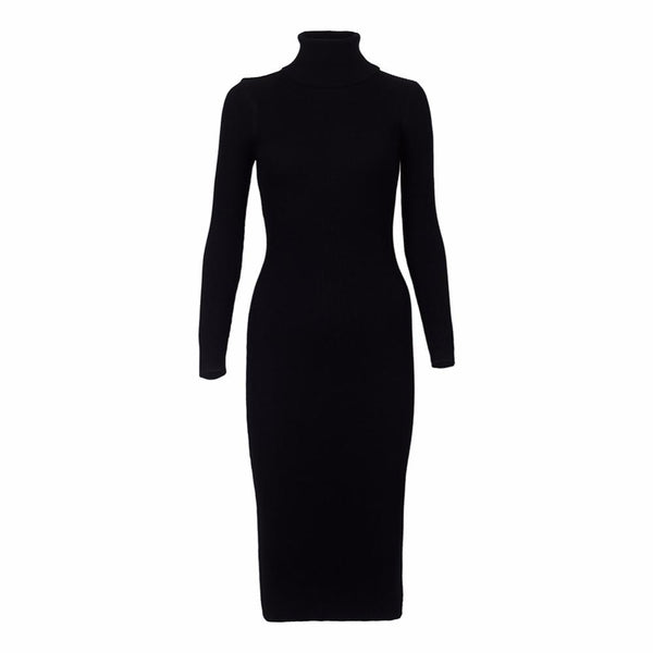 Women Autumn Winter Sweater Knitted Dresses - Bec's luxury store