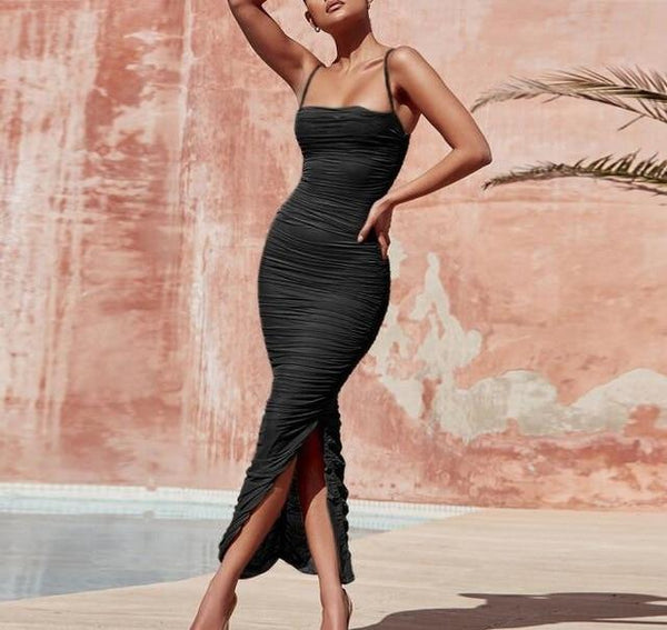 Women Long Club Elegant Bodycon Maxi Dress - Bec's luxury store
