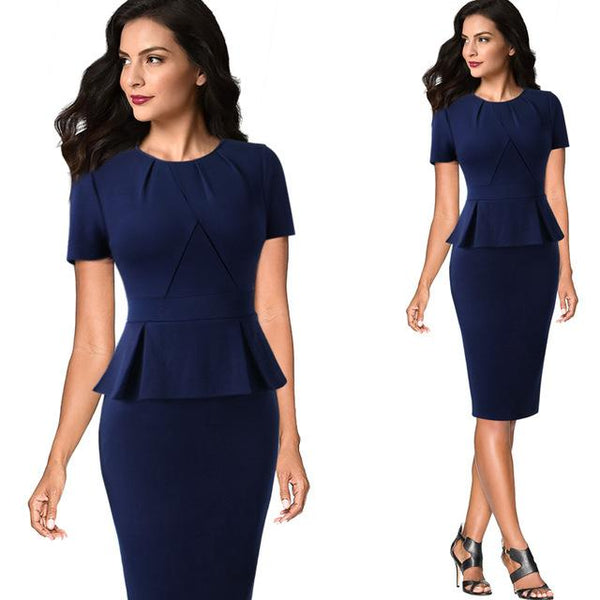 Work Office Business Vestidos Bodycon Sheath Dress - Bec's luxury store
