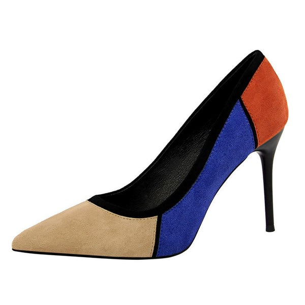 Suede High Heels Pointed Toe - Bec's luxury store