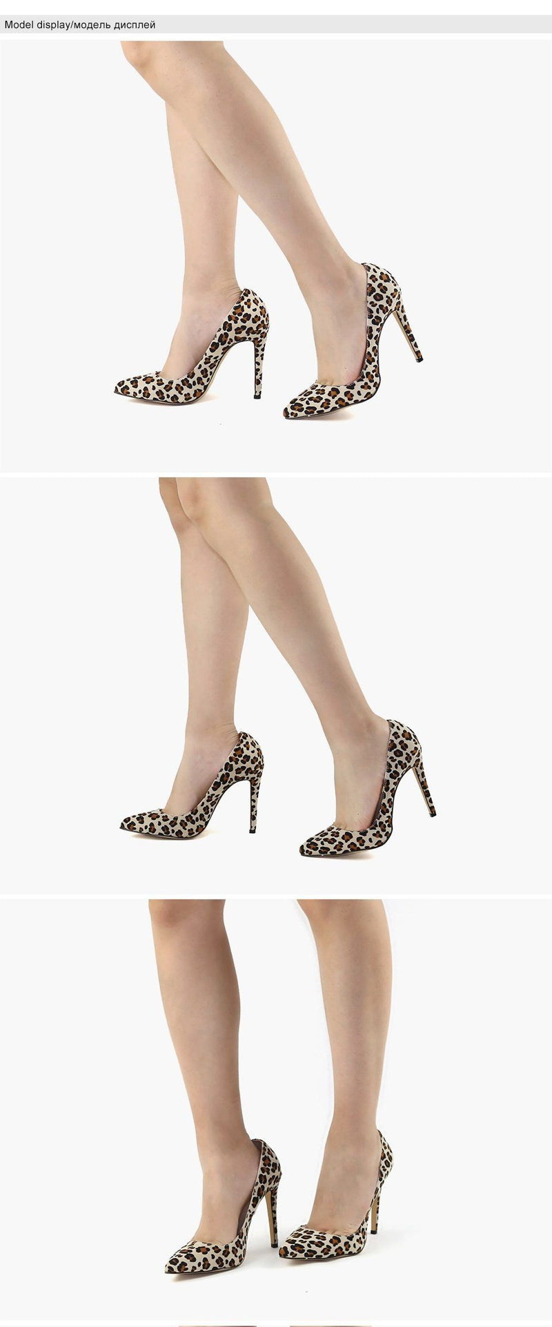 Leopard Sexy High Heels - Bec's luxury store