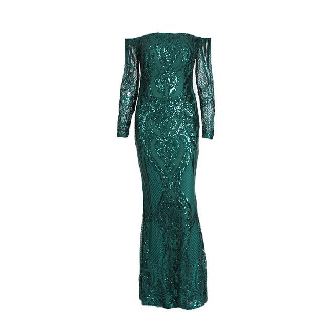 Elegant Maxi Dress Evening Gown Sequined Dress - Bec's luxury store