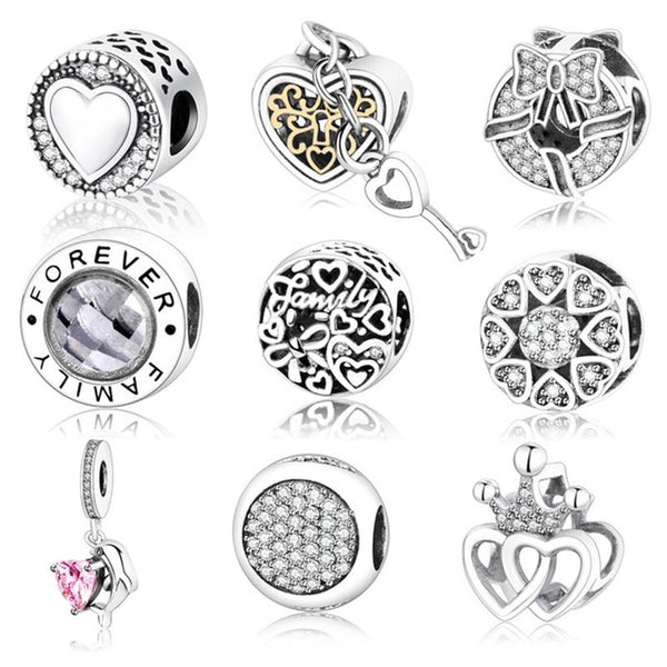 Authentic 925 Sterling Silver Charms Fit Original Pandora Charms Bracelet - Bec's luxury store