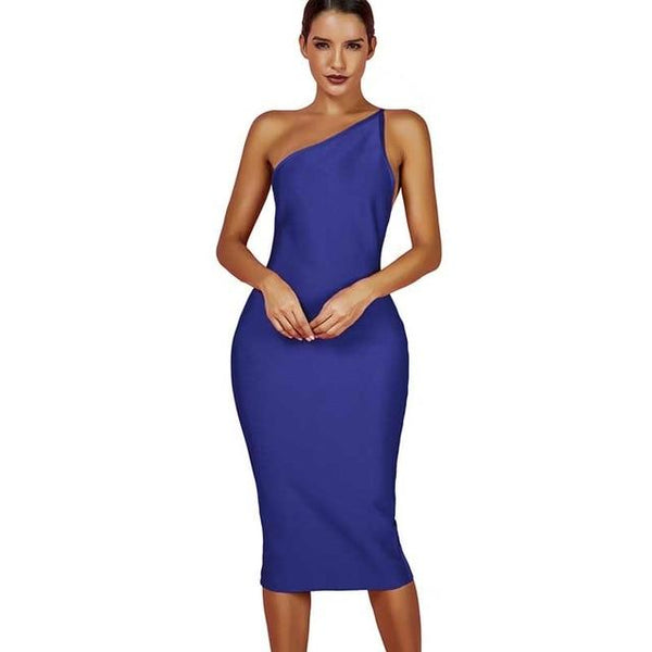 Sexy One Shoulder Bandage Dress - Bec's luxury store