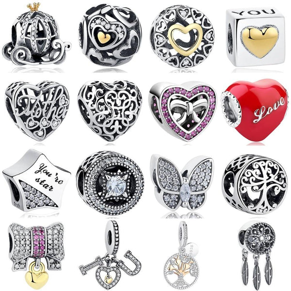 Authentic 925 Sterling Silver European Charms - Bec's luxury store