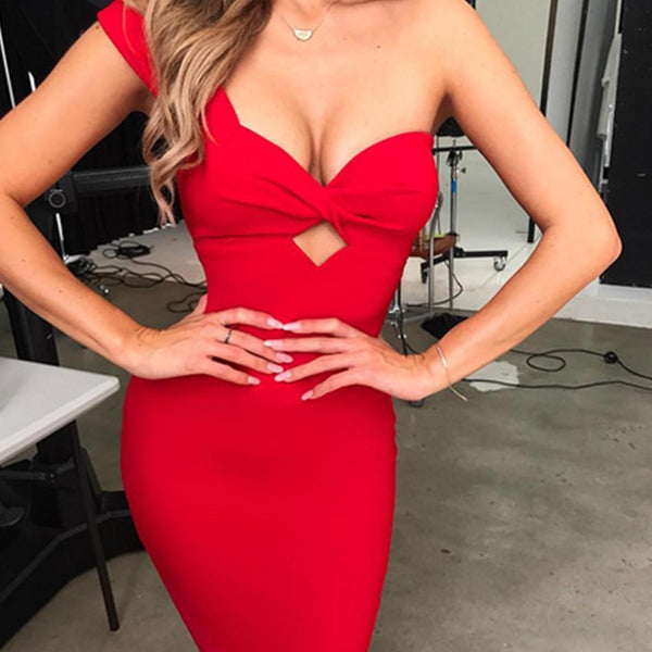 Sexy One Shoulder Dress - Bec's luxury store