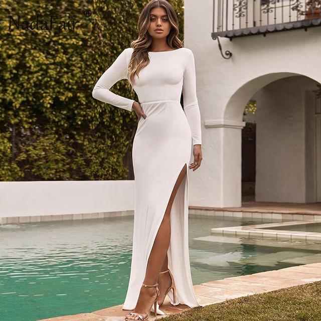backless women sexy long party dress - Bec's luxury store