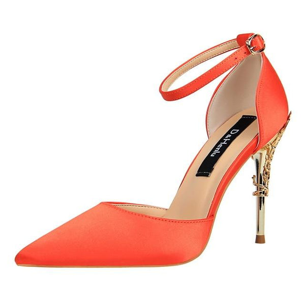 New Summer High Heels Silk Stilettos - Bec's luxury store