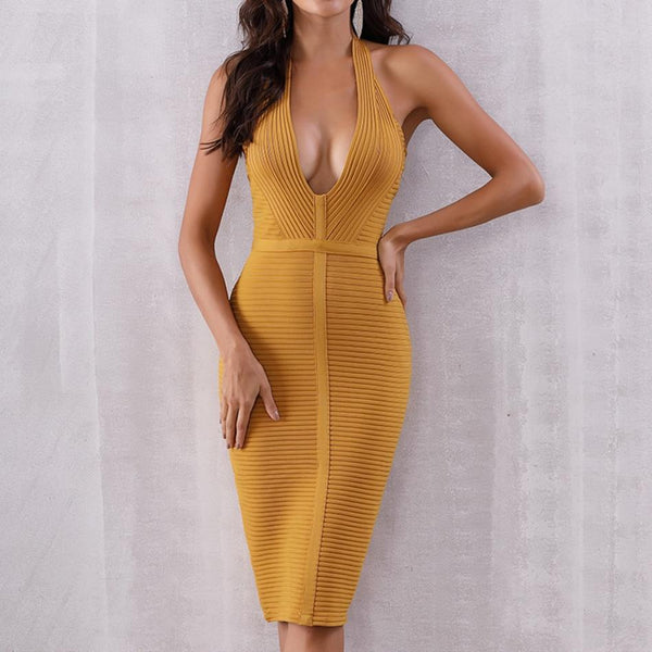 2019 Women Summer Bandage Bodycon Sexy Dress - Bec's luxury store