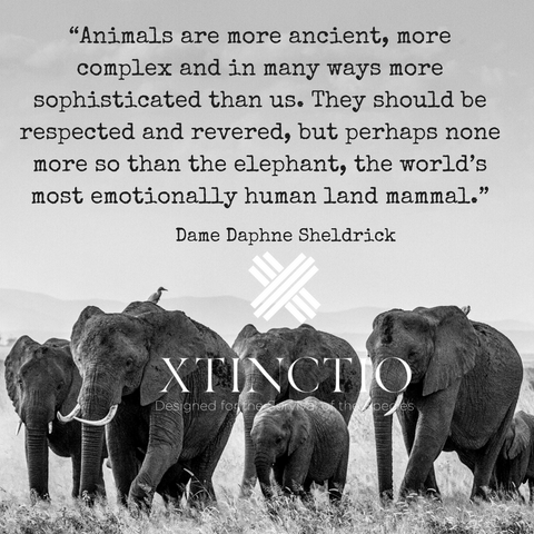 Xtinctio Elephant quote by Dame Daphne Sheldricl