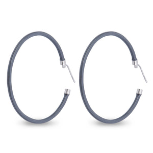 Xtinctio - These circular bronze enameled hoop earrings are hand made in Italy by a 3rd generation goldsmith using the ancient Etruscan art of enameling.  designed in color grey  in honor of the majestic elephant.