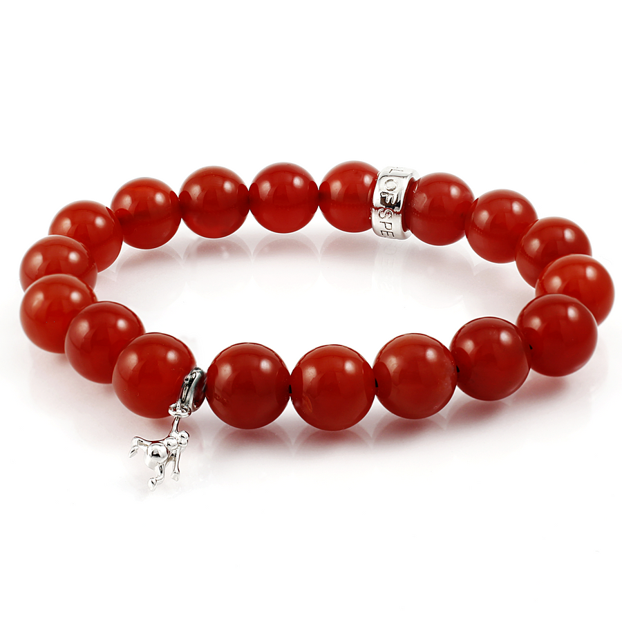 Carnelian Stretch Beaded Bracelet