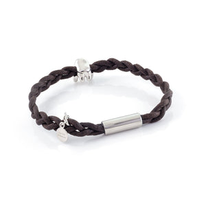 Xtinctio - Bracelet Unisex eco friendly waxed linen/cotton cord with animal charm (brass dipped in platinum) and magnetic steel clasp.  Imbued with the spirit of the endangered Orangurtan g.