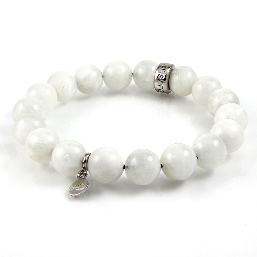 Xtinctio Moonstone Stretch Beaded Bracelet