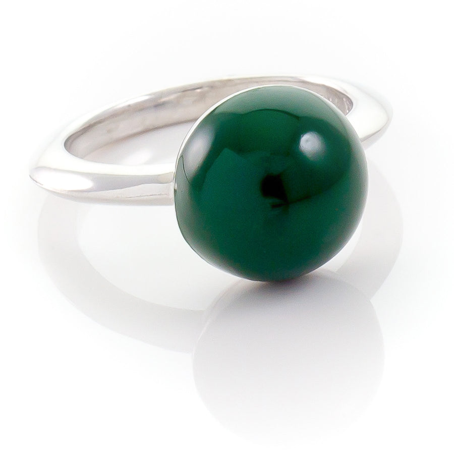 Xtinctio - This Etruscan Sphere ring is hand made in Italy by a 3rd generation Goldsmith.  Eco conscious 925 silver and enamel.  Engraved with our logo serving as a constant reminder that in this age of extinction, we are all connected to every living thing. Our partner in Rainforest Conservation