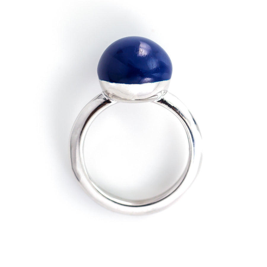 Xtinctio - This Etruscan Sphere Ring is hand made in Italy by a 3rd generation goldsmith using 925 Silver and enamel.  Engraved with our X logo, it is a positive reminder of our connection to every living thing in this age of extinction.  Our partner Coral restoration foundation