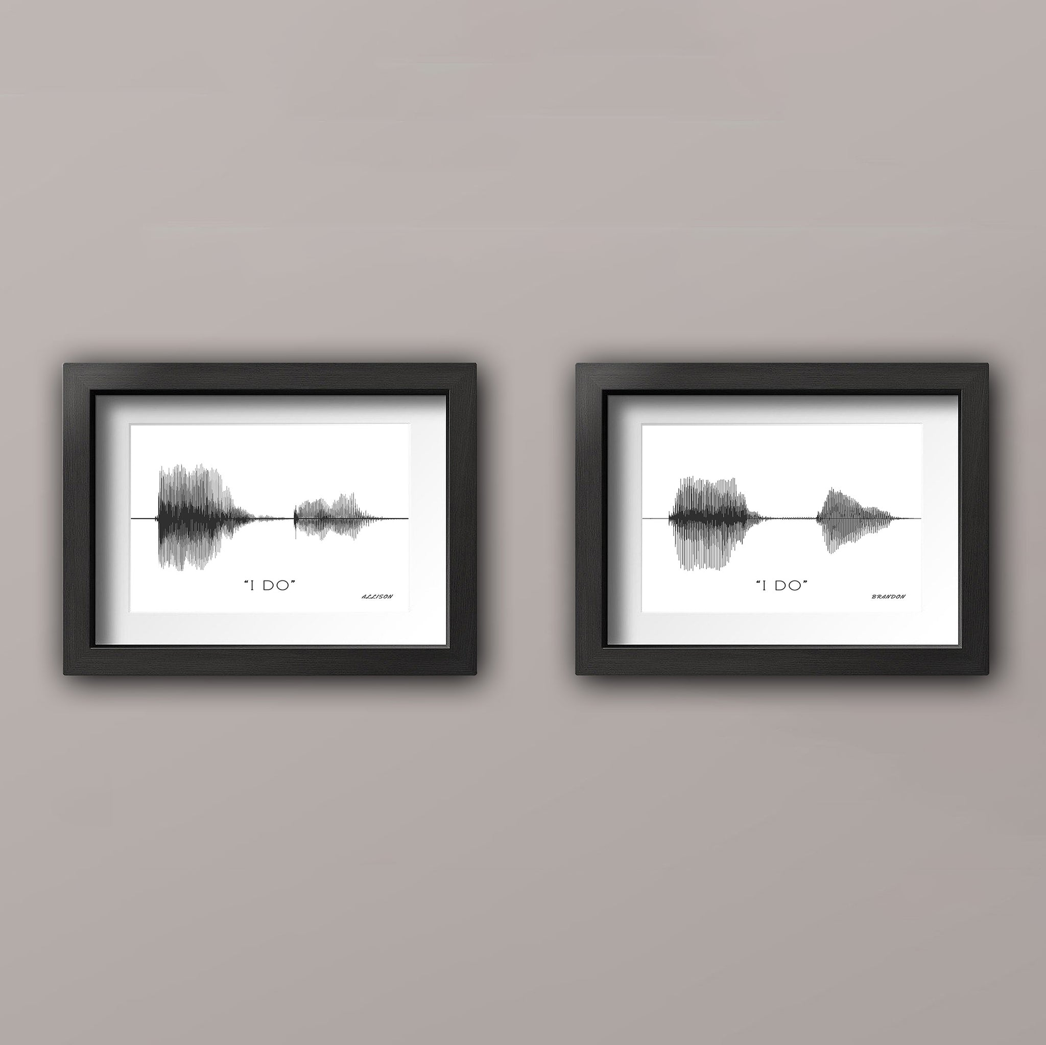 Sound Wave Art Print Wedding Vow Prints Anniversary Gift for