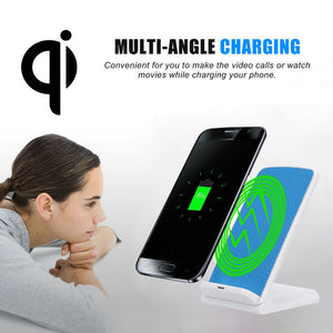 2017 New Arrival 3-Coils Fast Charge Qi Wireless Charging Stand Dock for Samsung Galaxy S8 / S8 Plus Cell Phone Accessories#25