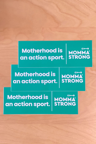 Motherhood is... Car Sticker