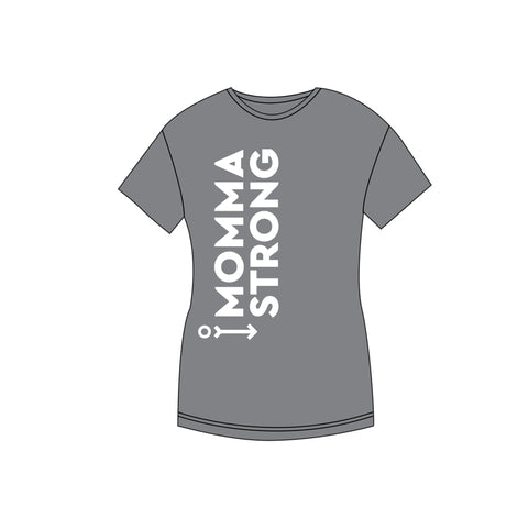 MommaStrong T-shirt - Gray