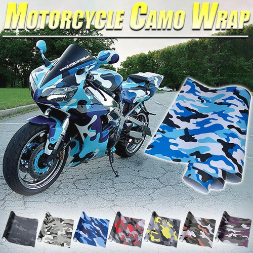 Motorcycle Camo Wrap