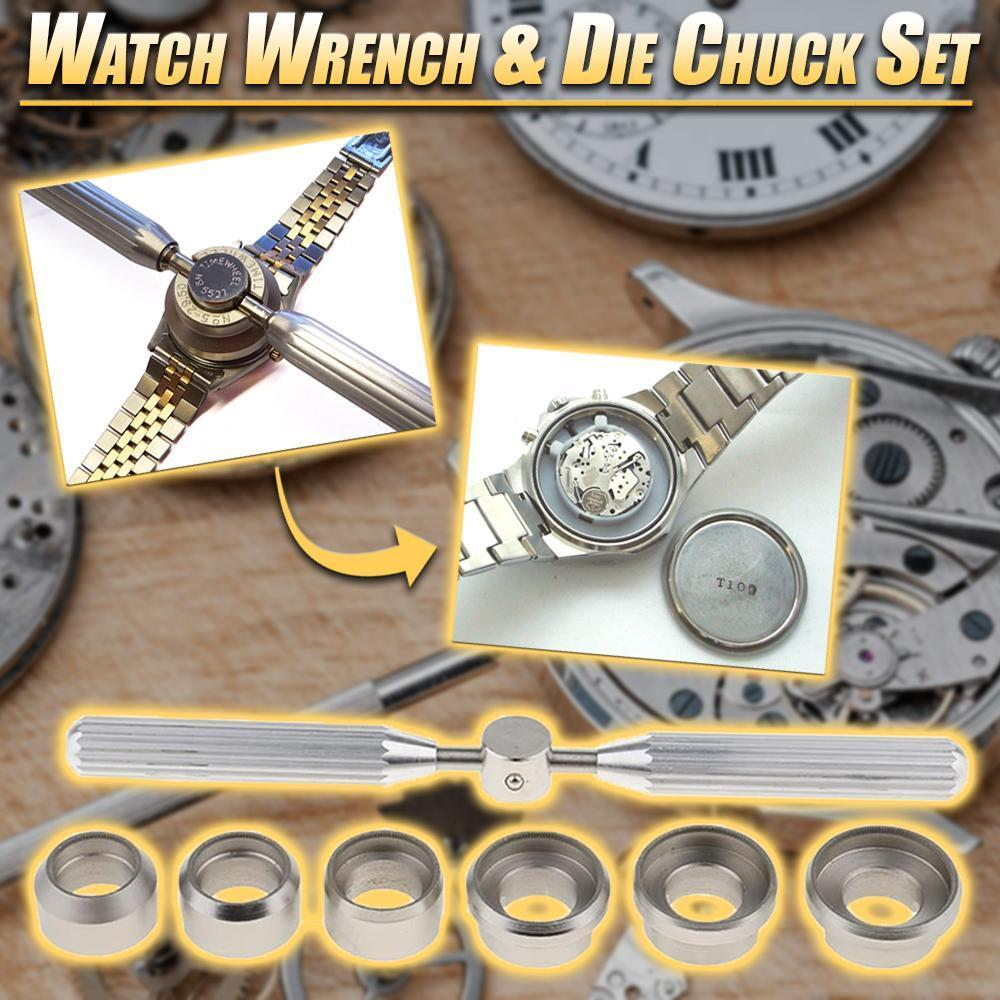 Watch Wrench & Die Chuck Set