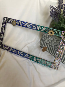 multicolor license plate frame (mermaid colors)