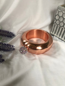 bracelet flask (rose gold and iridescent)