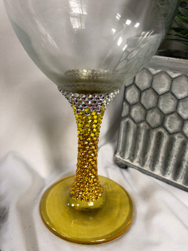 yellow Ombre goblet/wine glass