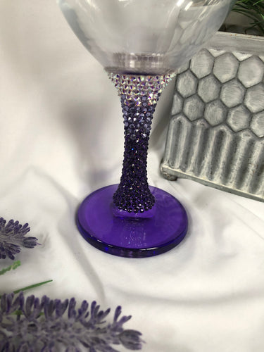 purple Ombre goblet/wine glass
