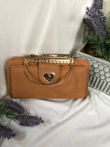 lt brown wallet purse