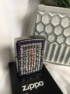 purple pattern zippo refillabe lighter