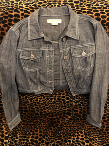 Michael Kors jean jacket with heart pattern