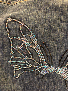 Levi's jean jacket with butterfly