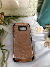 Load image into Gallery viewer, rose gold /black glitter phone case