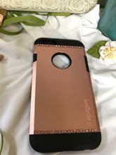 Load image into Gallery viewer, rose gold and black phone case