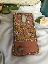 Load image into Gallery viewer, pink/gold glitter phone case