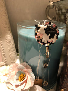 cow badge holder