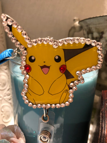 picachu badge holder with lanyard