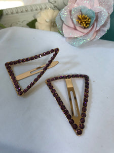 snap triagle hair clips