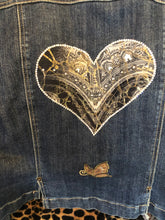Load image into Gallery viewer, International concepts repurposed jean jacket with heart