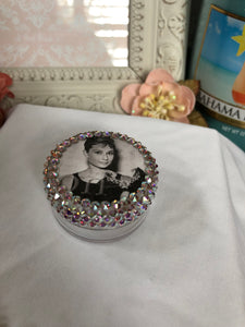 12 ML plastic twist top container (Audrey Hepburn decal)