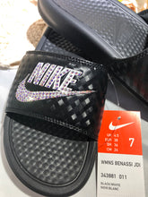 Load image into Gallery viewer, Nike slides (black)
