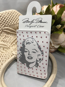 Passport cover with Marilyn Monroe and lt pink crystals
