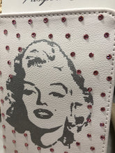 Load image into Gallery viewer, Passport cover with Marilyn Monroe and lt pink crystals