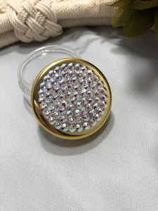 Container gold rim with iridescent