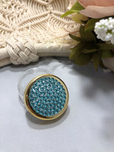 Load image into Gallery viewer, Container gold rim with lt turquoise
