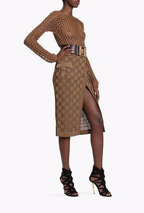 cross skirt by Balmain