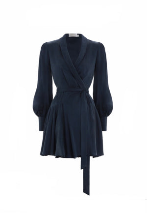 Navy Mini wrap dress by zimmermann